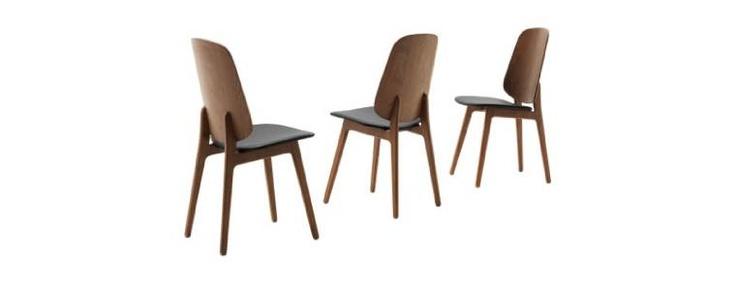 Black leather dining tuolit