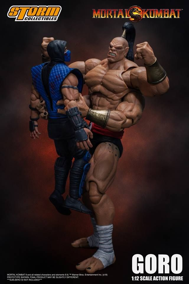 Storm Collectibles Goro Mortal Kombat Mortal Kombat Action Figures Mortal Combat