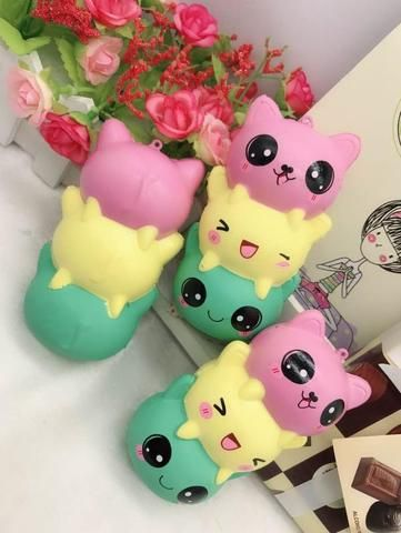 New Rainbow Cartoon Ice Cream Cat Kitty Squishy Slow Rising Cute Jumbo Strap Soft Squeeze Scented Bread Cake Toy Gift Kid Fun Cellphones & Telecommunications Mobile Phone Straps