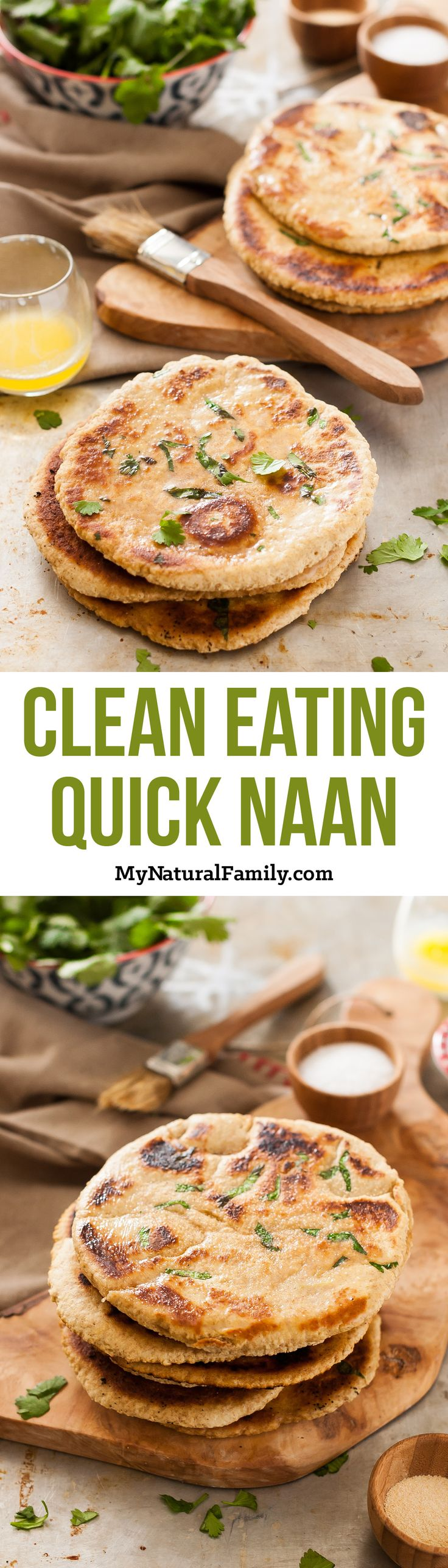 Quick Naan Recipe {Clean Eating} - I love how fast these come together since they don't have yeast and they are really easy.