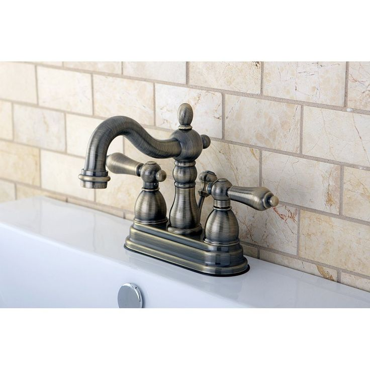 Bathroom Faucets 4 Inch Centerset : Kingston Brass KB1603AL Heritage 4-Inch Centerset Lavatory Faucet with ...