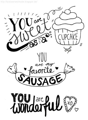 Luloveshandmade: Getting Started with Handlettering (with Pinterest) - And Free Handlettering Printables for Valentine's Day