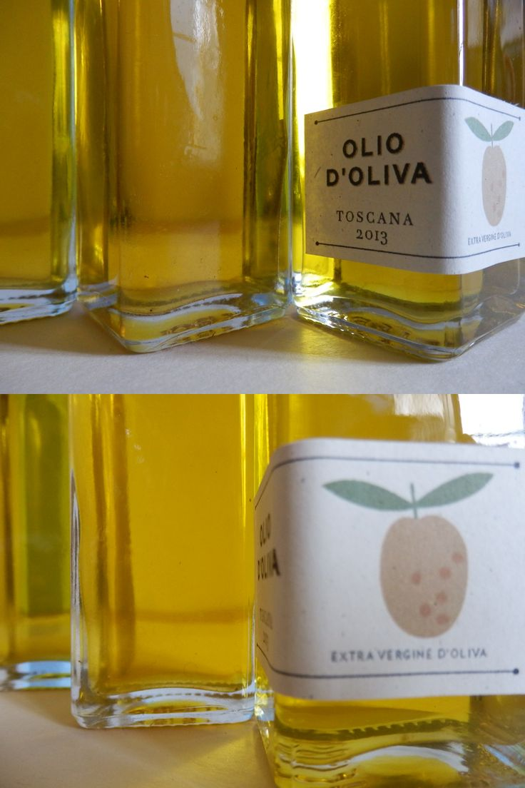 Label for Extra Virgin Olive Oil from Tuscany. Harvest 2013
