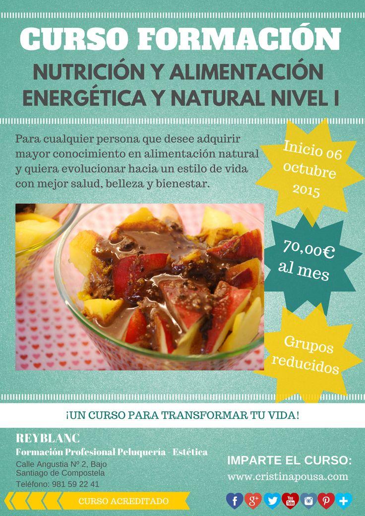 Curso Nutrición y Alimentación Energética y Natural en Santiago de Compostela