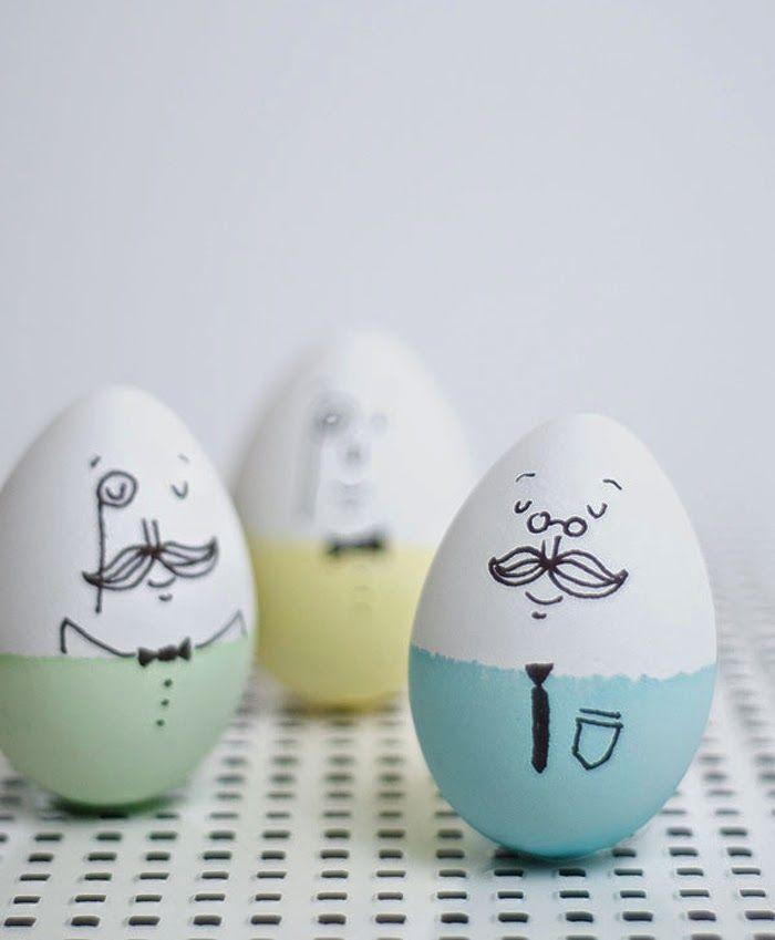 Для поздравления, прикольные рисунки на яйцах к пасхе