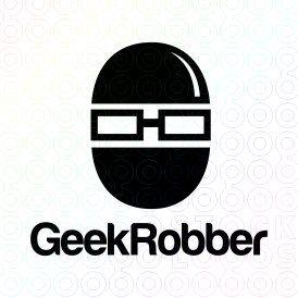 Exclusive Customizable Logo For Sale: Geek Robber   StockLogos.com
