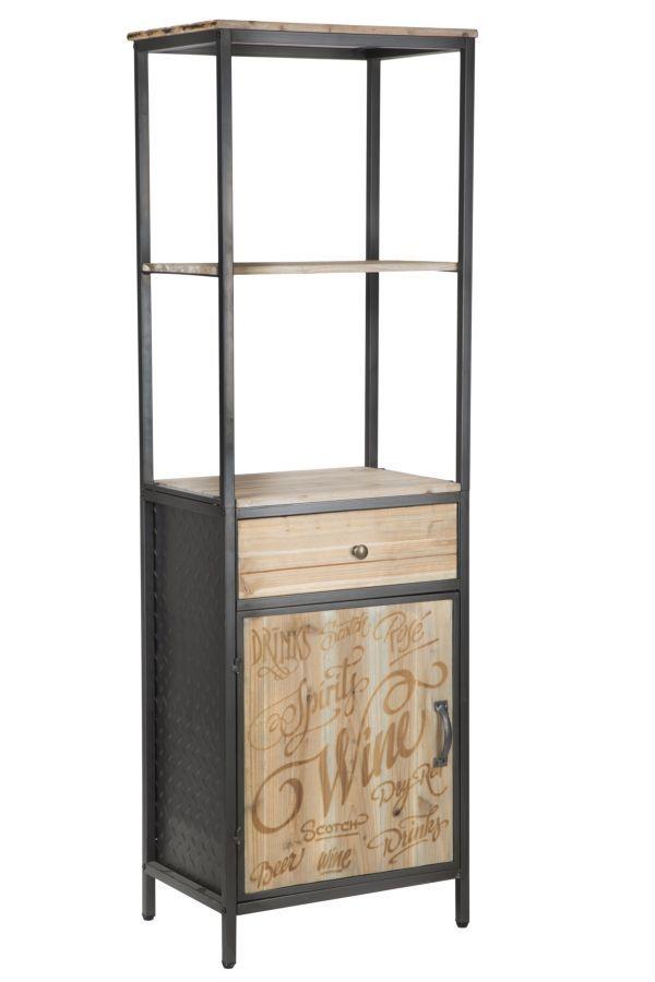 #MauroFerrettiSrl 1417780000 LIBRERIA C/CASSETTO + ANTA SOHO CM 51,3X38X163 #mauroferrettisrl #home #homedecor #decor #casa #arredo #arredamento #decorazione #libreria #soho #industrial #industrialstyle #iron #metal #vintage #wood #newitem #newlook #italiansdoitbetter