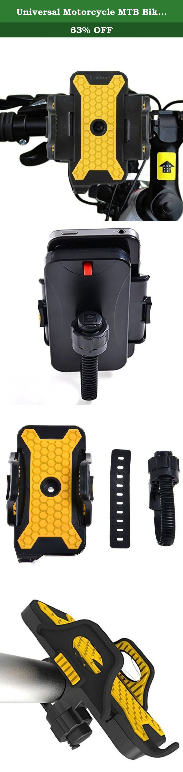 Universal Motorcycle MTB Bike Bicycle Handlebar Mount Holder for iPhone SE Iphone6 6S 5 5S 5C 4 4s Samsung S7 S6 S5 S4 Note 3 2 1 HTC LG GPS Etc. Features: 100% brand new and high quality Universal Motorcycle MTB Bike Bicycle Handlebar Mount Holder for Iphone6 5S 5C Samsung Galaxy S6 S5 S4 Galaxy Note3 2 Htc One LG Blackberry Easy to lock and unlock Easy to assemble and convenient to use Made of ABS and TPU, anti-slid and protects your cell phone from scratches Can be installed on bicycle...
