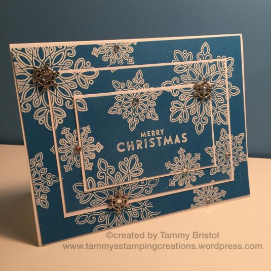 Triple Time Stamping using Stampin' Up's Flurry of Wishes stamp set.