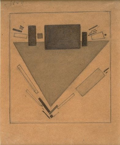 Kazimir Malevich, Dynamic Suprematism, 1916.  Graphite on paper. 7 7/8 x 6 1/4 in.  Collection SFMOMA