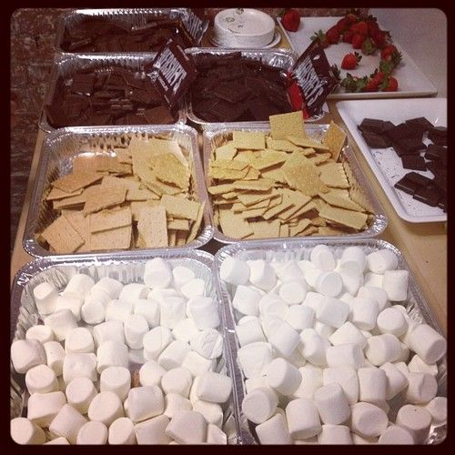 There's not much better than a S'Mores buffet