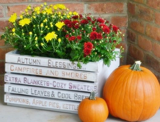 LOVE this crate: Fall Front Porches, Fall Decor, Art Crates, Autumn Words, Words Art, Diy Autumn, Crates Porches, Crates Ideas, Autumn Front Porches