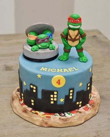 tortas de las tortugas ninjas infantiles                                                                                                                                                                                 Más