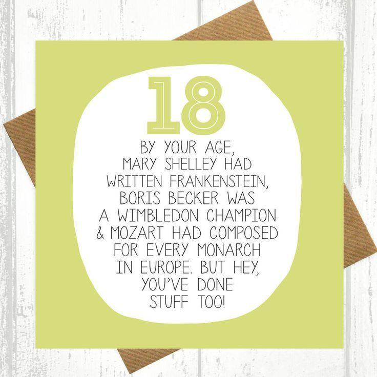18th Birthday Ideas For Boys Funny Birthday Cards 18th Birthday Quotes Funny Birthday Card Sayings