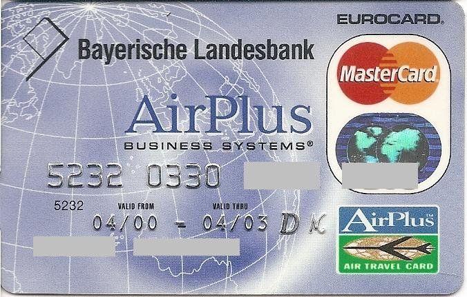 Bank Card: Bayerische Landesbank Air Plus (Bayerische Landesbank, Germany, Federal Republic) Col:DE-MC-0074