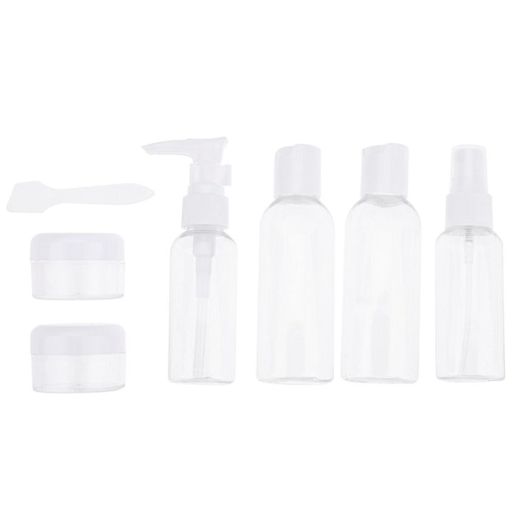 6-in-1 Portable Travel Makeup Lotion Bottles Cosmetics Sprayer Atomizer Diffuser Sample Spray Perfume Bottle Container Organizer