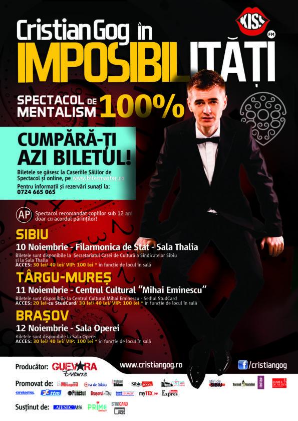 Primul spectacol de mentalism 100% la Brasov!