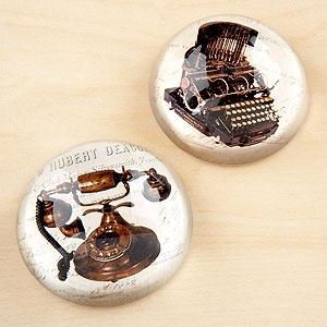 Typewriter paper weight