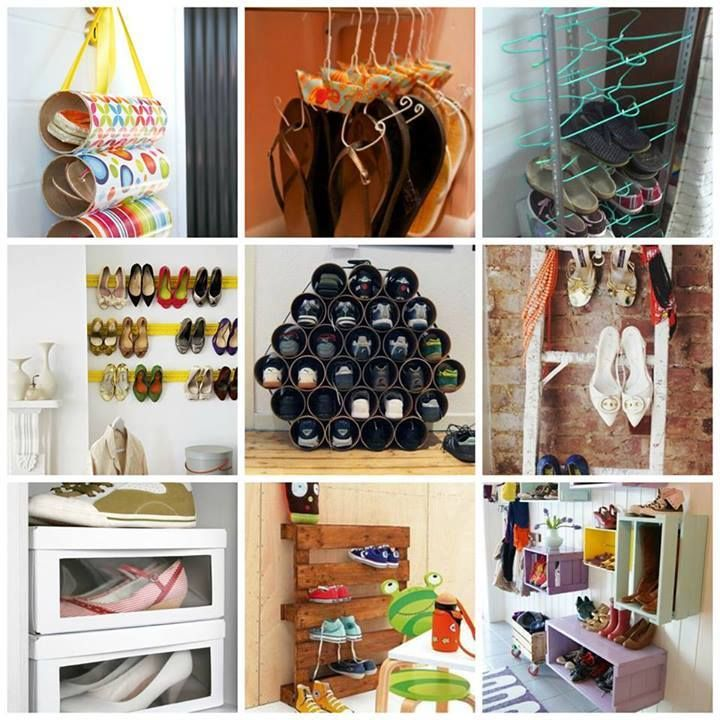 clever ways to storage shoes