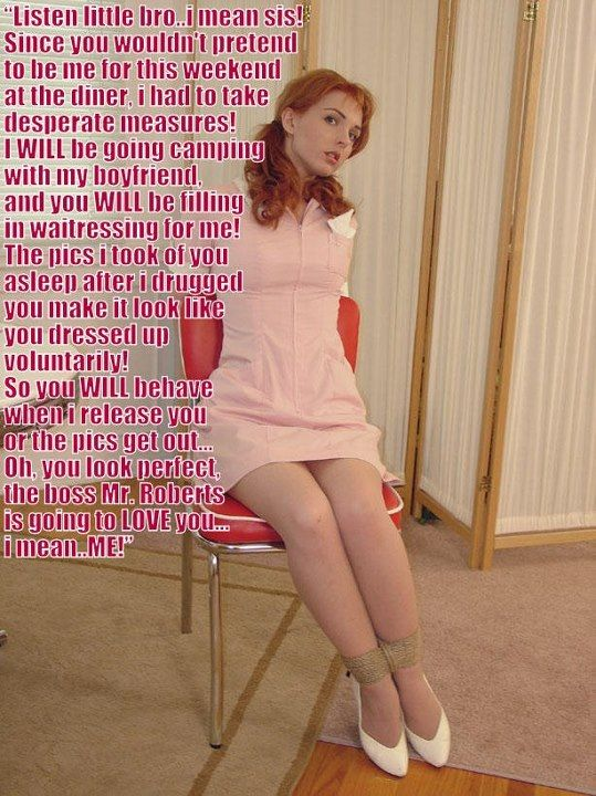 Tempting crossdresser girdle captions