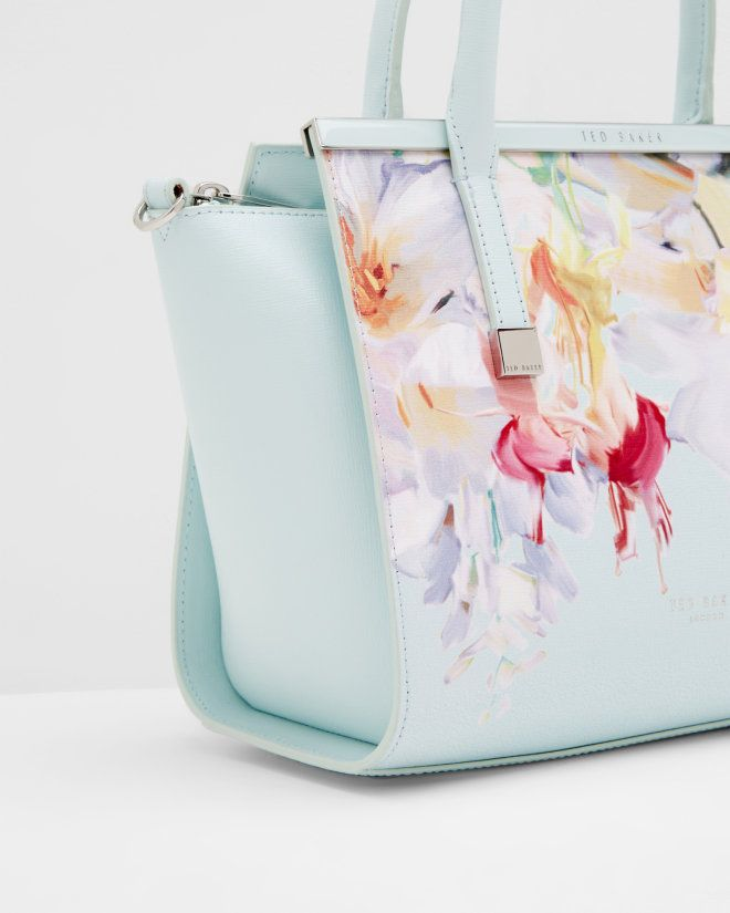 Hanging Gardens leather tote bag - Mint | Bags | Ted Baker UK