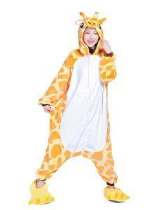 7e844951a6d23 Keral Kigurumi Pyjama Adulte Anime Cosplay Halloween Costume Tenue Girafe M