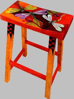 The Art of Helen Heins Peterson - Slideshow Viewer bright chair dragonflies