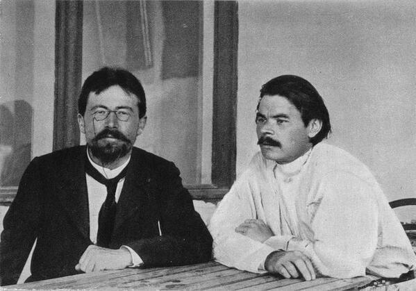Anton Chekhov and Maxim Gorky. 1900, Yalta, Crimea