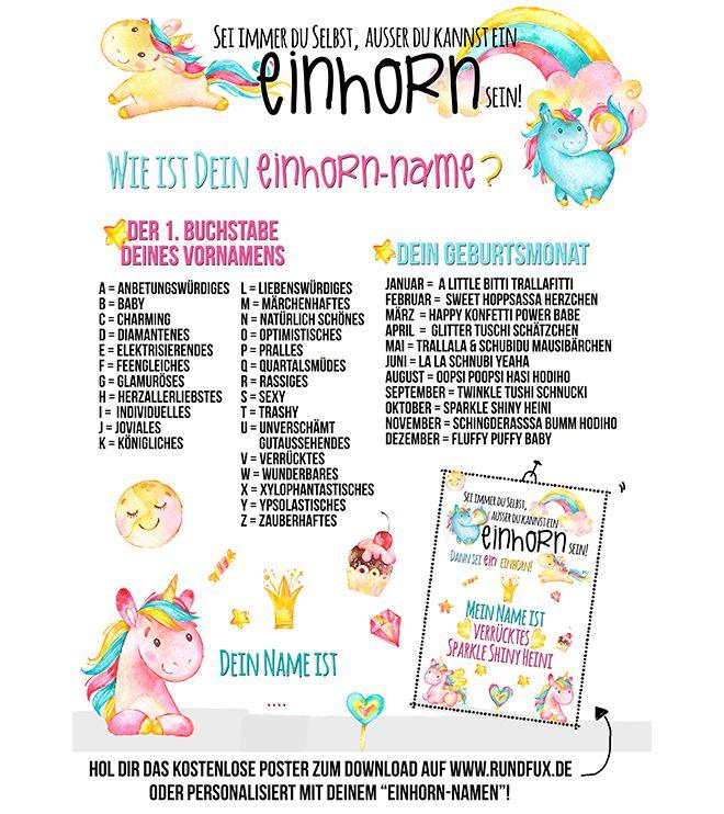 Wie Ist Dein Einhorn Name? U2013 Rundfux Media Publishing. Die Lustige Suche  Nach
