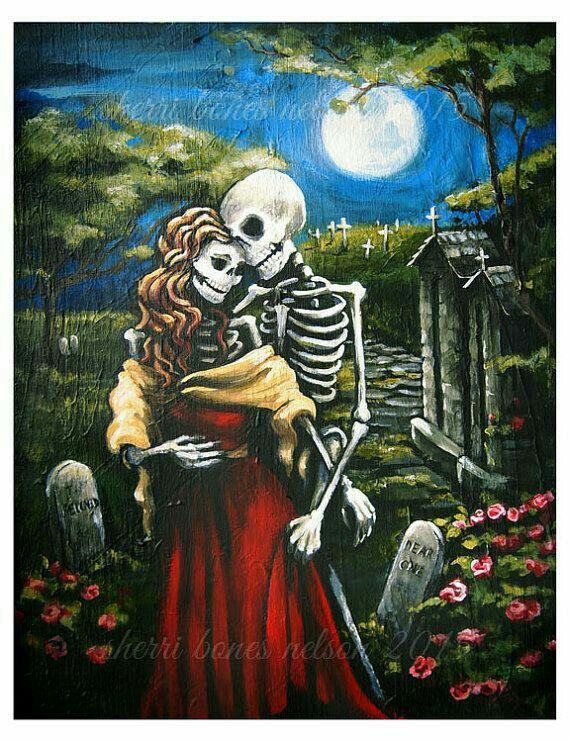 Romantic Couple Skeletons