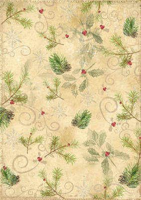 Vintage Christmas digi backing paper