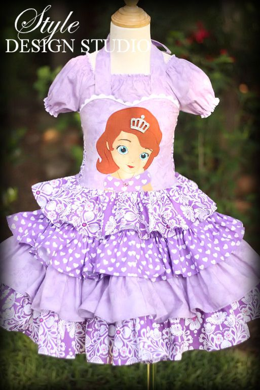 Sophia the First Girls Ruffled Disney Dress