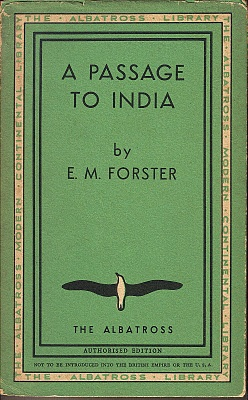 A Passage to India by E. M. Forster. This week's book. Most books I read take place in America or England...the culture in this book is different and enjoyable to read about.