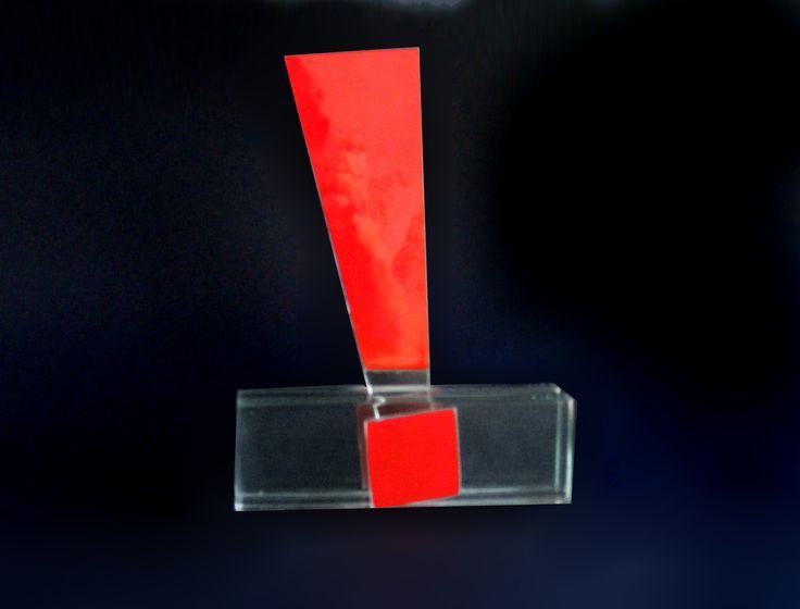 trofeu de vidro DHL