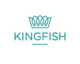 "Sushi restaurant ""Kingfish"" logo by Emil Hartvig"