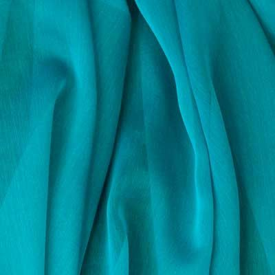 Teal is vibrant and colorful yet cool and relaxing and will add just the right tone to your wardrobe. The flowing nature of this fabric makes the perfect material for beautiful skirts and blouses; bec