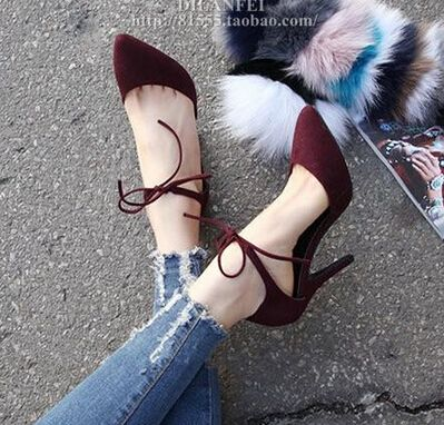 (27.58$)  Buy here  - MANMIT-Free shipping European Adult single shoes women pumps cowhide genuine leather girl fashion stripes pointed toe high heels