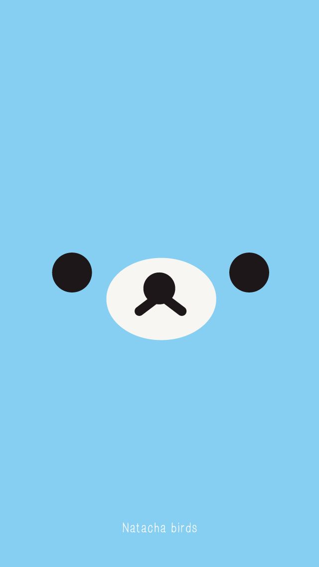 Blue bear face iphone wallpaper phone background lockscreen