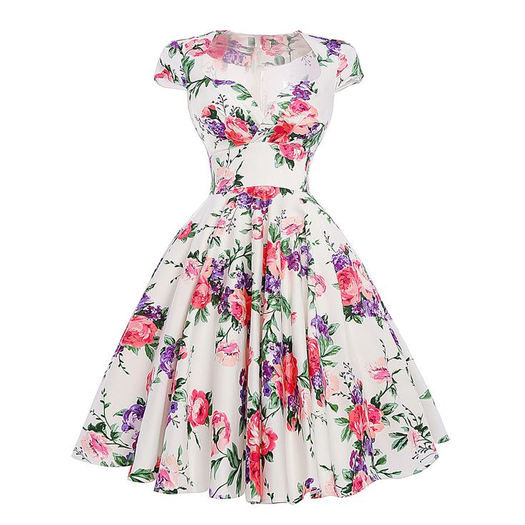 Audrey Hepburn Robe Retro Rockabilly Dress 2016 jurken 60s Swing Floral Print Pin up Vestidos Women Summer 50s Vintage Dresses >>> Check out the image by visiting the link.
