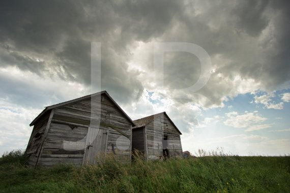 Old Farm Sheds Canvas Wall Art by CanvasingtheOutdoors on Etsy