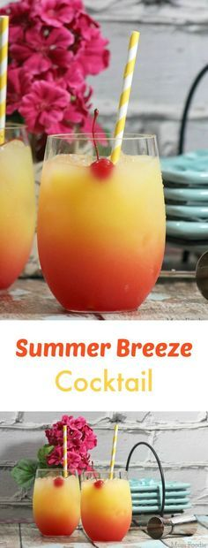 Summer Alcoholic Punch Recipes: Summer Breeze Cocktail Recipe- Great For Parties