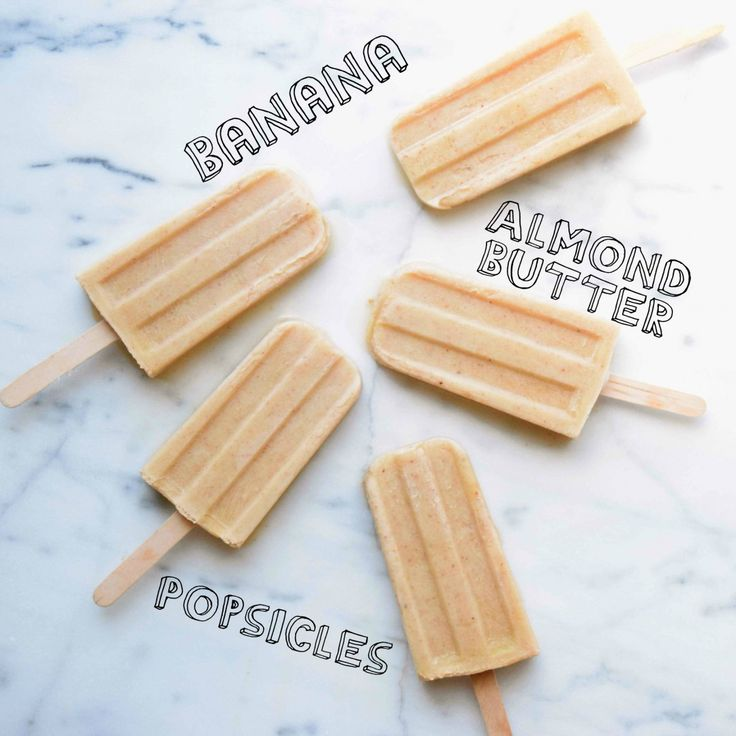 Super easy, super delicious, healthy Banana Almond Butter Popsicles! Check 'em out!