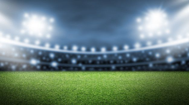 Soccer Field And Spotlight Background In The Stadium Soccer Field Football Background Background