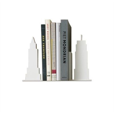 Design Ideas plucked iconic buildings from New York's world-famous skyline to create sturdy bookends for shelves or desks or kitchen counter tops. Made from formaldehyde free and carbon compliant MDF and finished the durable epoxy, these classic icons will stand the test of time and passing fashion.