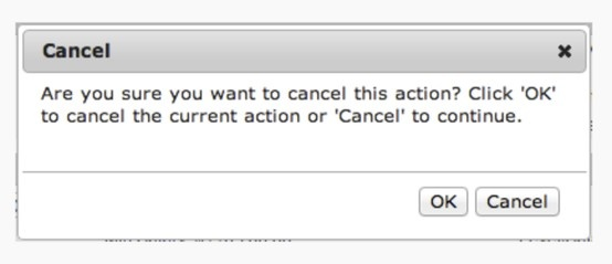 Ok to Cancel or Cancel to Continue?