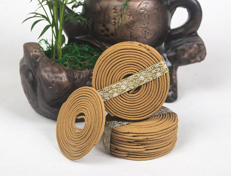 1 box Pure Natural Sandalwood Incense Coil Flowers Fragrance Indoor Incense by MsDIYSupplies on Etsy