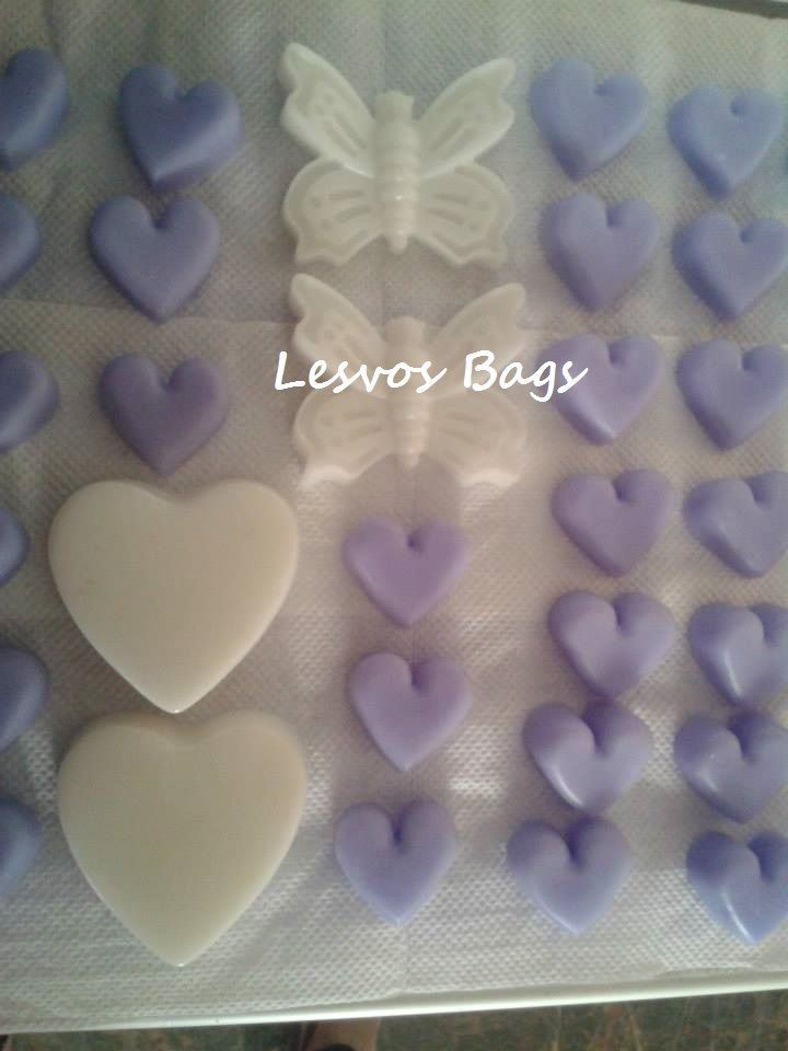 lilac & white  soaps