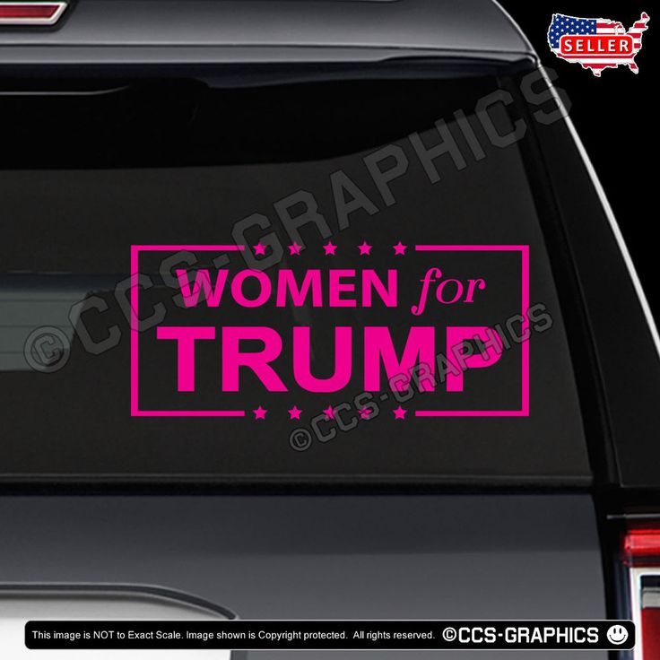 WOMEN FOR TRUMP DECAL car window sticker election president sign maga deplorable #Oracal #Diecut