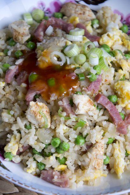 Gebakken rijst met bacon - Brenda Kookt