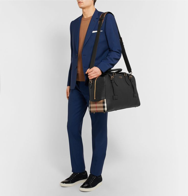 Stylish and practical, <a href='http://www.mrporter.com/mens/Designers/Burberry'>Burberry</a>'s 'Bankston' holdall is the ideal accompaniment for weekends away. Made in Italy from hardy full-grain leather, it's panelled with the brand's recognisable London check at the sides. Open the gold zip and buckles and you'll find a roomy interior and zipped pocket for smaller items. Carry it on the shoulder using the detach...